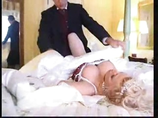Super hot busty bride nailed in her cunt
