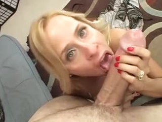 Cock is thick for the shaved milf pussy