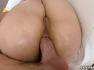 Sarah Shevon has got nice big ass. And she loves big cock! Man with thick boner drills her asshole hard and then takes his dick out for Sarah Shevon to suck. Nice ass-to-mouth action!