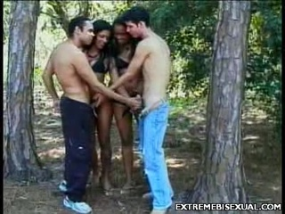 Outdoor bisex foursome