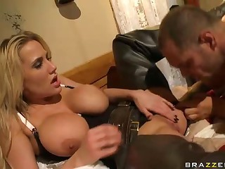 Big titted cowgirl Alanah Rae gets finger fucked