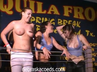 Nebraska coeds dancing and showing off their boobs