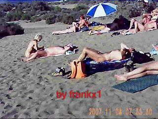 Swingers community in the dunes of Maspalomas