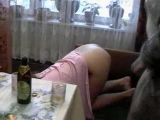 Crazy Russian Drunlen Teen Girl