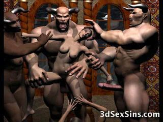 3D sinful tarts with monsters