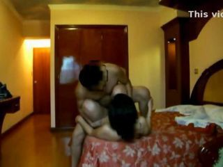 Indian couple fucking hard in hotel room bouncing tits