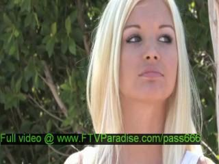 Franziska, from ftv girls, hot blonde girl walks down the street