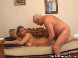 This chubby grandpa Matthias is playing sick yet unendingly luring another silly nubile girl procure his cell to shock her helter-skelter a view be required of his hairy body and firm veteran cock. Making the old fart so horny had Natalie feeling eminently sexy and