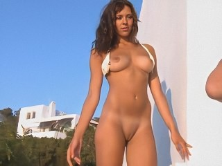 Nude Unreserved Posing Outdoors