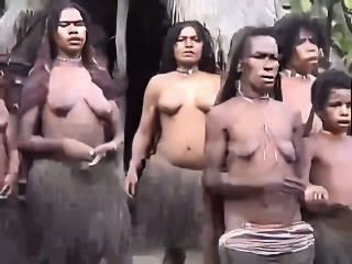 African battalion wide small empty saggy tits