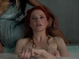 Spartacus: Lucy Lawless and Katrina Law