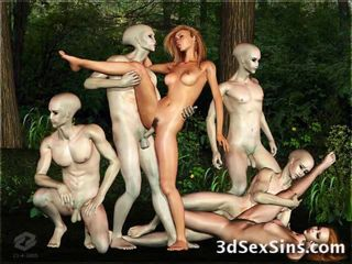 Freaky creatures such as orcs, ogres, tentacles and werewolves fucking cute 3D girls