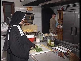 German nun assfucked relative to kitchen