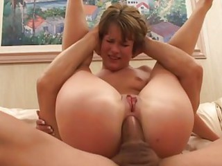Anal whore Claire Robbins gets her ass fucked before getting a face full of cum