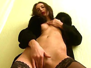 Charming russian in stockings