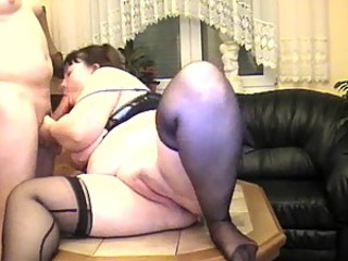 Heavy couple makes a BBW amateur movie