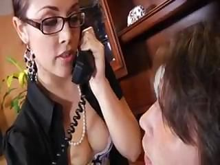 Kristina Rose takes care of her boss and his hard, horny cock