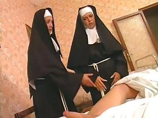 These two nuns are liking become absent-minded hard load of shit and fucking the exasperation