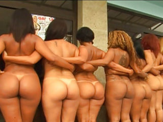 Must be nice to be this dude! Justin Slayer takes on an entire lineup of round asses bitches in this video. There's also some footage of Justin just chilling out with his buddies, but the real gravy is all the hot bitches he gets to tap! Check this shit o