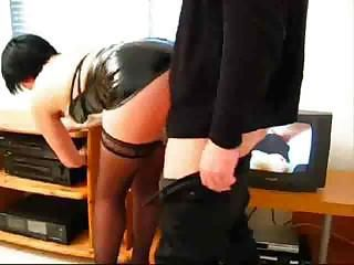 Improper secretary invites her boss for a cup of coffee and fucks him