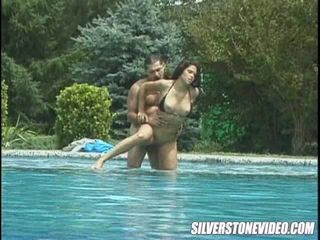 Hot Latina fucking by the pool