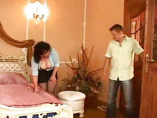 Chubby Italian mature and her two lovers