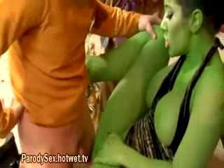 Gorgeous Brunette Alien Getting Fucked