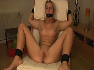 Bound amateur toy play, including anal