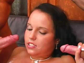 Gorgeous Laura Lion enjoys a  hard double penetration