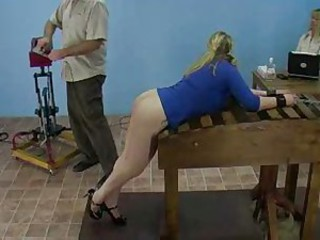 Amy Vs. Someone's skin Spanking Machine bdsm bondage slave femdom domination