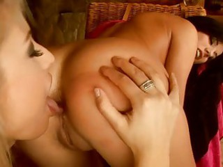 Beautiful brunette Anita Pearls tight clam warms up when her ass gets licked