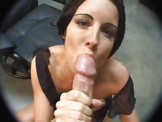 Sweetheart sucks a big cock to a cumshot