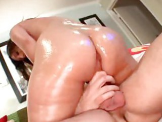 Nice oiled up girl fucked