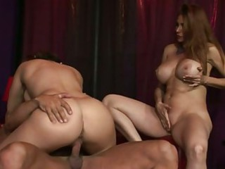 Scorching Sheila Marie pumps a thick meaty boner with her lusty mouth