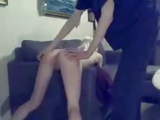 Swedish amateur Bella spanked