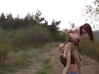 Piss: two nasty girls piss on each other