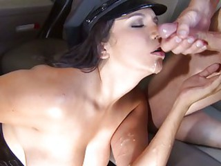 Outcast slut Missy Martinez gets doused upon dick milk