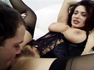 Erika Bella jams cock down her throat to the balls