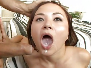 Horny Asian Kita Zen loves gagging on a hard dick before getting her twat pounded