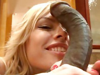 Blonde loves huge cock