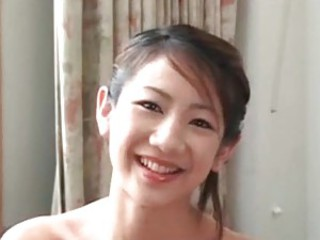 Flawless Asian girl blows and is toyed