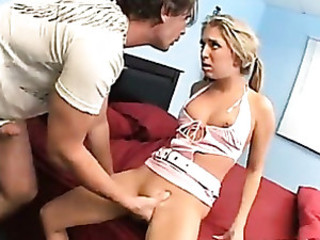 The hot naughty teen likes it hard and squirts