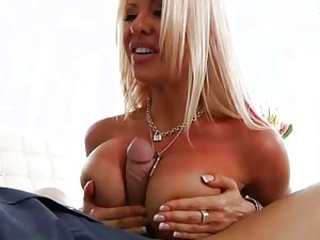 Helly Mae Hellfire uses her huge jebbs to wank this rod