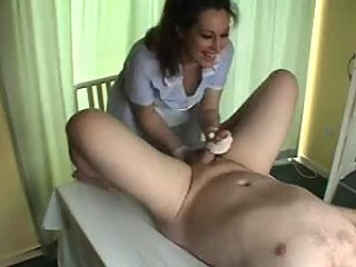 Nurse gives prostate massage