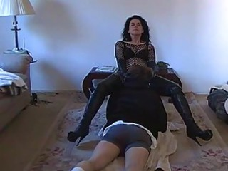 Dominant wife makes him worship her pussy