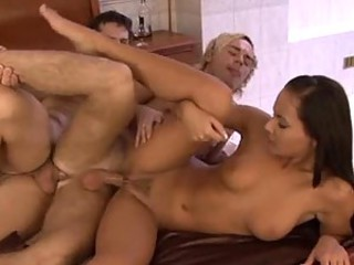 Guy on guy anal in bisexual threesome