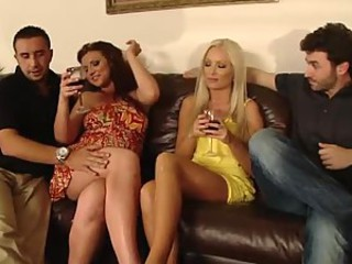 Horny Swingers Swap Wives In Hot Foursome