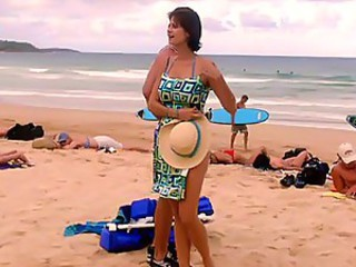 Catherine Bell down in the mouth bikini hard assembly