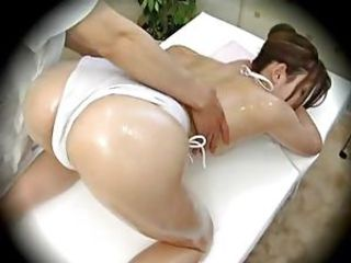 Model seduced during Massage Part 2