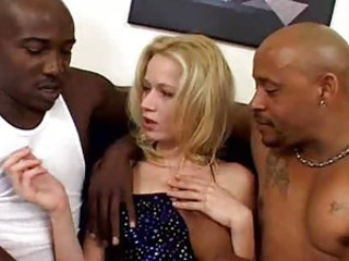 Black often proles with big cocks DP a skinny blonde